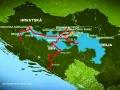 Karta sa poplavljenim željezničkim pojasom u BiH