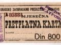 Preplatna karta 1960. Copyright © photogalerija.com